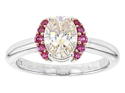 Photo of 1.56ct Fabulite Strontium Titanate And .10ctw Burmese Pink Spinel Sterling Silver Ring - Size 11
