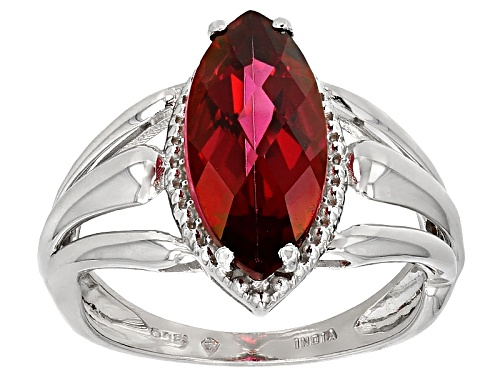 Photo of 2.50ct Marquise Peony™ Mystic Topaz® Sterling Silver Solitaire Ring - Size 5