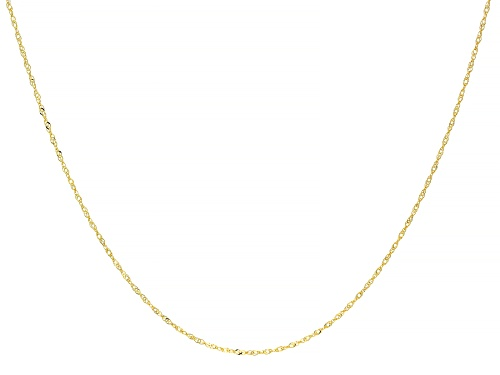 Photo of 14k Yellow Gold Singapore Necklace 18 inch - Size 18
