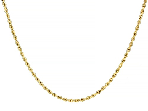 Photo of 14k Yellow Gold Rope Chain Necklace 18 inch - Size 18