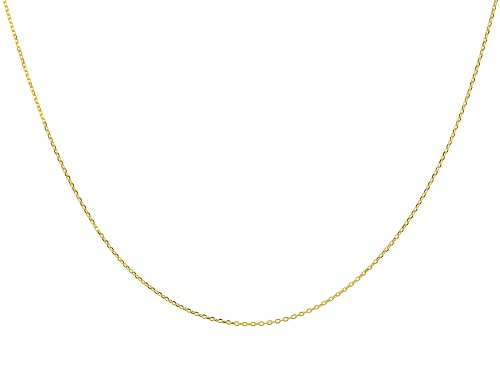 Photo of 10K Yellow Gold Rolo Chain 20 Inch Necklace - Size 20