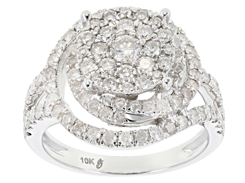 Photo of 1.50ctw Round White Diamond 10k White Gold Ring - Size 4
