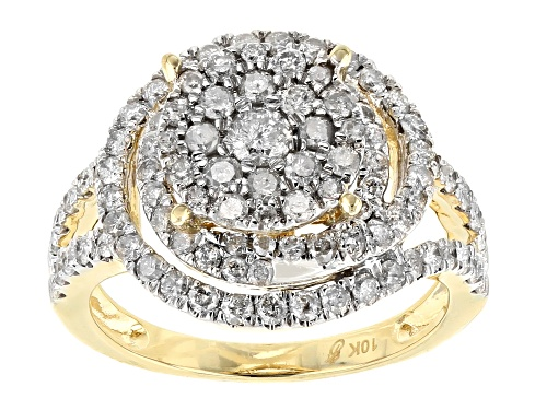Photo of 1.50ctw Round White Diamond 10k Yellow Gold Ring - Size 7
