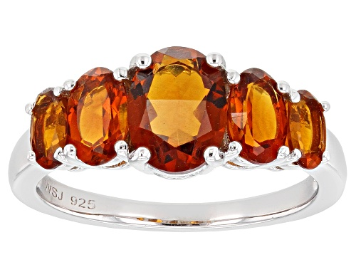 Photo of 2.05CTW OVAL MADEIRA CITRINE RHODIUM OVER STERLING SILVER RING - Size 8
