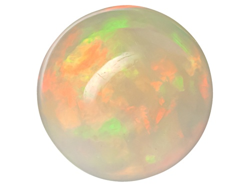 Photo of Ethiopian opal min 1.00ct 8mm round cabochon