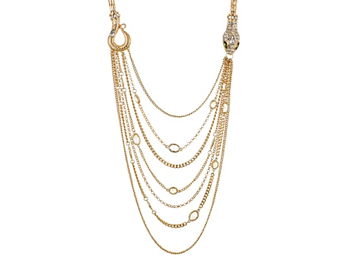 Photo of Off Park ® Collection Multicolor Crystal Gold Tone Multi Chain Snake Necklace