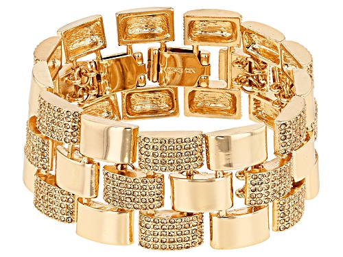 Off Park ® Collection Champagne Crystal Gold Tone Statement Bracelet