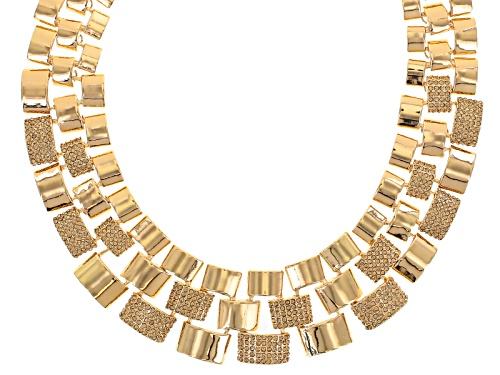 Photo of Off Park ® Collection Champange Crystal Gold Tone Statement Necklace