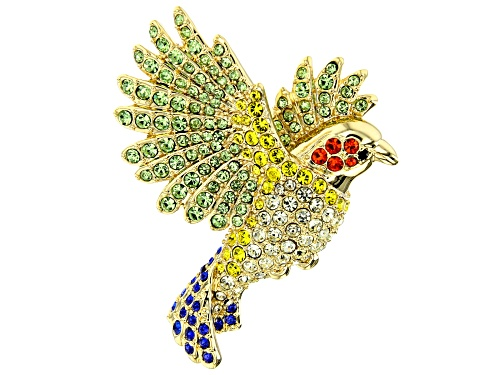 Photo of Off Park Collection ® Multicolor Crystal Gold Tone Bird Brooch