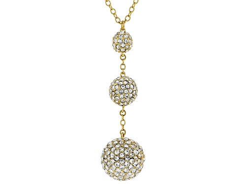 Photo of Off Park ® Collection, Round White Crystal Gold Tone Drop Necklace