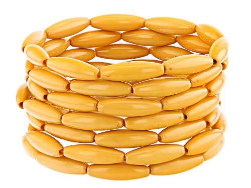 Photo of Off Park ® Collection, Yellow Marquise Bead Stretch Bracelet Set Of 7