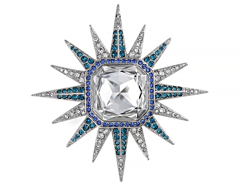 Photo of Off Park ® Collection, Multicolor Swarovski Elements ™ Silver Tone Celestial Brooch