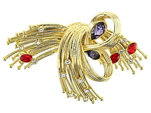 Photo of Off Park ® Collection, Swarovski Elements ™ Crystal 14K Gold Over Base Metal Brooch