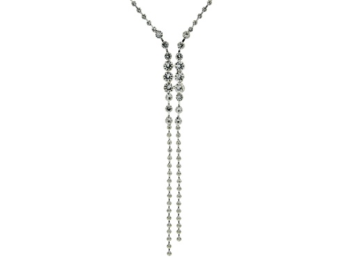 Photo of Off Park ® Collection, Round White Crystal Silver Tone Y Necklace