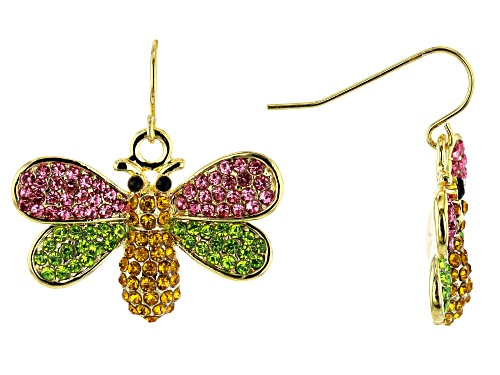 Photo of Off Park ® Collection, Multi-color Crystal Gold Tone Bee Earrings