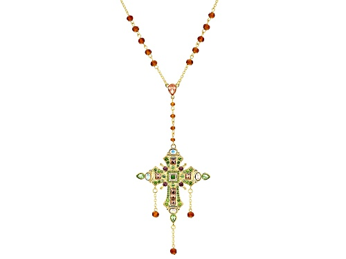 Photo of Off Park ® Collection, Multi-Color Crystal Gold Tone Cross Necklace