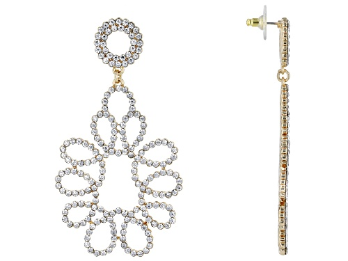 Photo of Off Park ® Collection, Gold Tone White Crystal Statement Earrings