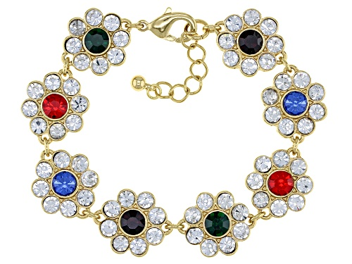 Photo of Off Park Collection™ Multi-Color Crystal Gold Tone Bracelet