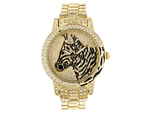 Photo of Off Park Collection ™ White Crystal Black Enamel Yellow Zebra Watch