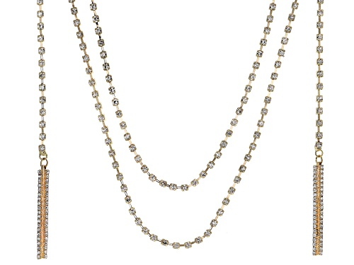 Photo of Off Park ® Collection White Crystal Gold Tone Convertible Necklace
