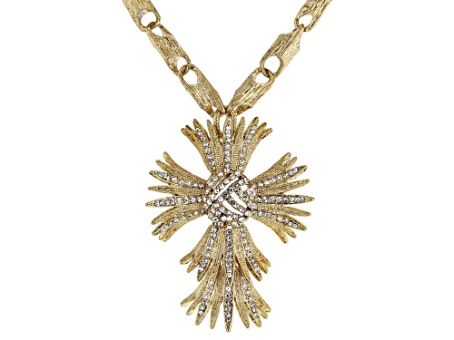 Photo of Off Park ® Collection White Crystal Gold Tone Cross Necklace