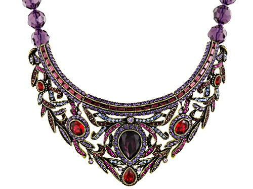 Photo of Off Park ® Collection Multicolor Crystal Antiqued Gold Tone Statement Necklace