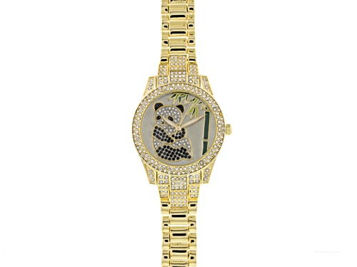 Photo of Off Park Collection ™ Black And White Crystal Yellow Panda Watch