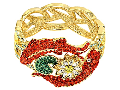 Photo of Off Park ® Collection Multicolor Crystal Gold Tone Koi Fish Bracelet
