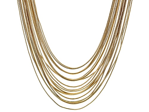 Photo of Off Park ® Collection White Crystal Gold Tone Multi Strand Necklace