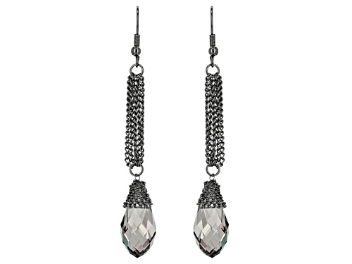 Photo of Off Park ® Collection Gray Crystal Gold Tone Dangle Earrings
