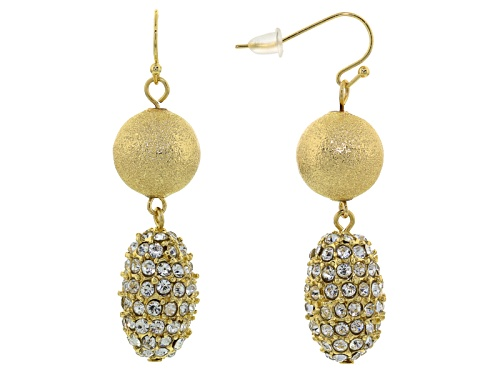 Photo of Off Park ® Collection White Crystal Gold Tone Dangle Earrings