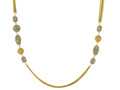 Photo of Off Park ® Collection White Crystal Gold Tone Multi Chain Necklace