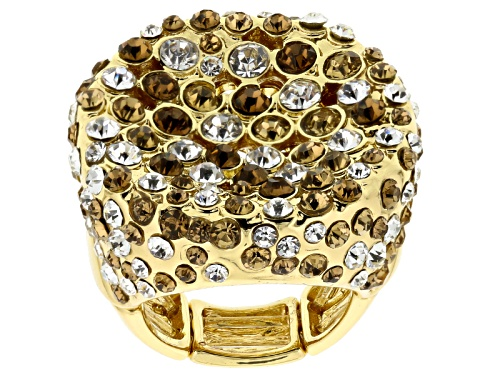 Photo of Off Park ® Collection Multicolor Crystal Gold Tone Stretch Ring