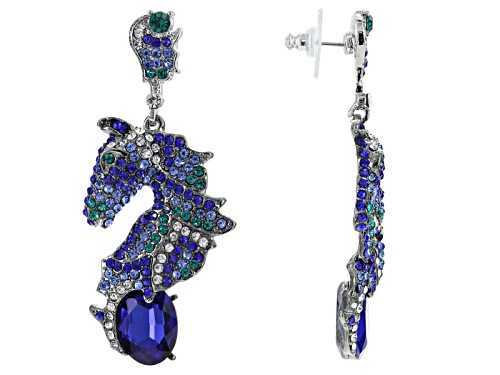 Photo of Off Park ® Collection Multicolor Crystal Two Tone Horse Earrings