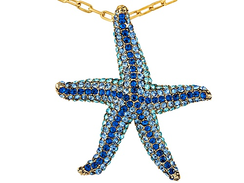 Photo of Off Park ® Collection Gold Tone, Round Multicolor Crystal Starfish Pendant With Chain