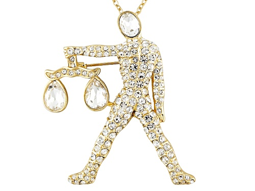 Photo of Off Park ® Collection Gold Tone White Crystal Libra Pin Pendant With Chain
