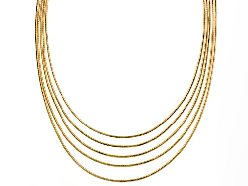 Photo of Off Park ® Collection Gold Tone Five Row Necklace