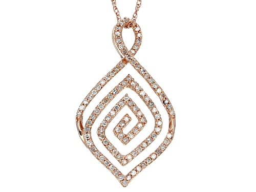 Photo of Park Avenue Collection ™ .38ctw White Diamond 14k Rose Gold Pendant W/18inch Chain