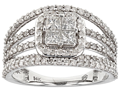 Photo of Park Avenue Collection® 1.52ctw Round And Princess Cut White Diamond 14k White Gold Ring - Size 6
