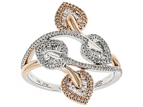 Photo of Park Avenue Collection® 0.50ctw Round, Baguette & Princess Cut White Diamond 14K Two-Tone Gold Ring - Size 7