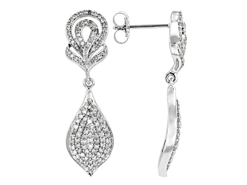 Photo of Park Avenue Collection® 0.75ctw Round White Diamond 14K White Gold Earrings