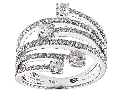 Photo of Park Avenue Collection® 1.00ctw Round White Diamond 14k White Gold Ring - Size 6