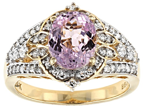 Photo of Park Avenue Collection® 2.21ct Pink Kunzite & .36ctw White Diamond 14K Yellow Gold Ring - Size 8