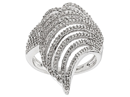 Photo of Park Avenue™ .65ctw Round White Diamond Rhodium Over Sterling Silver Cocktail Ring - Size 7