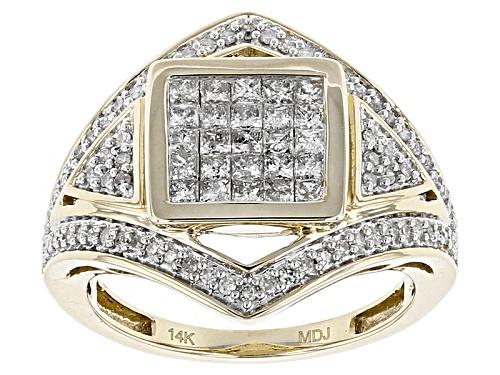 Photo of Park Avenue Diamonds™ .80ctw Round And Princess Cut White Diamond Ring - Size 7