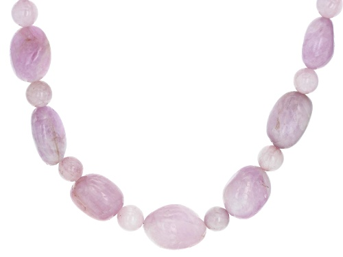 Photo of Pacific Style™ Kunzite Nugget And Bead Rhodium Over Silver Necklace - Size 20