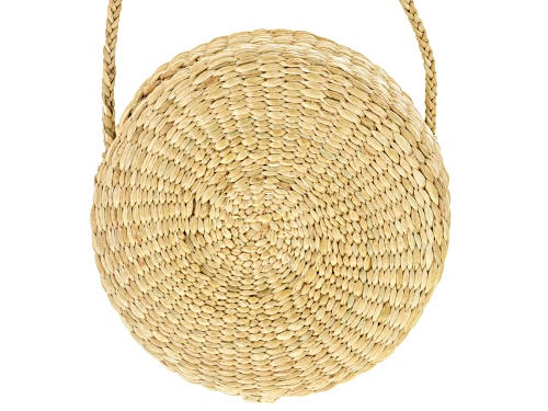 Photo of Pacific Style ™ Round Rattan Clutch Purse
