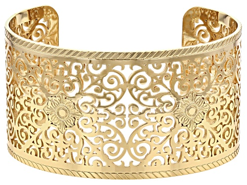 Photo of Paula Deen Jewelry 14k Gold Over Brass, Wrought Iron Design Filigree Cuff Bracelet