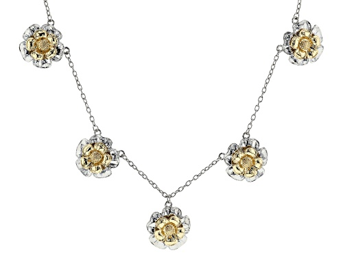 Photo of Paula Deen Jewelry™ Two-Tone Floral Charm Necklace - Size 22.5