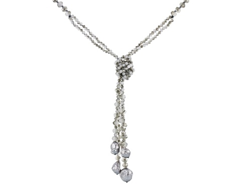 Photo of Paula Deen Jewelry™ Faceted Rondelle Gray Bead & Gray Baroque Pearl Simulant Necklace - Size 22